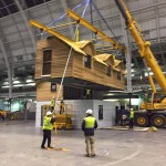 Carefully Moving it into place