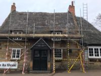 Re-Thatching of The White Hart Pub in Northampton