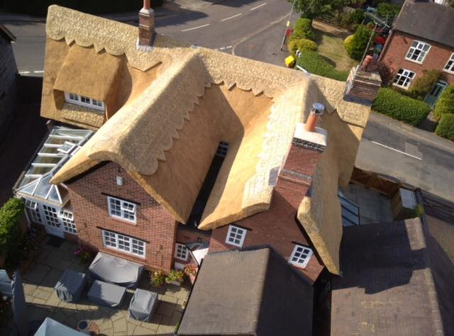 Drone View of a Re-thatch
